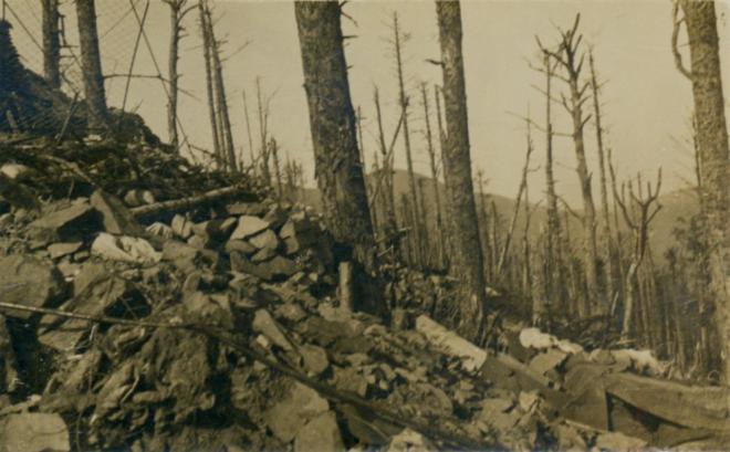 Position allemande nord HWK au loin le Riesenkopf