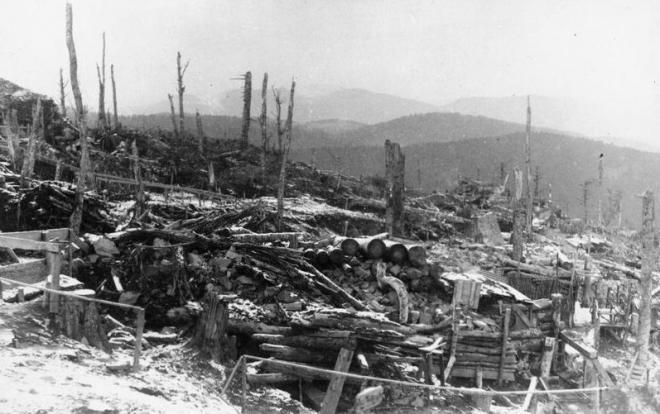 Postes allemands Bischofshut HWK  Vosges  1916
