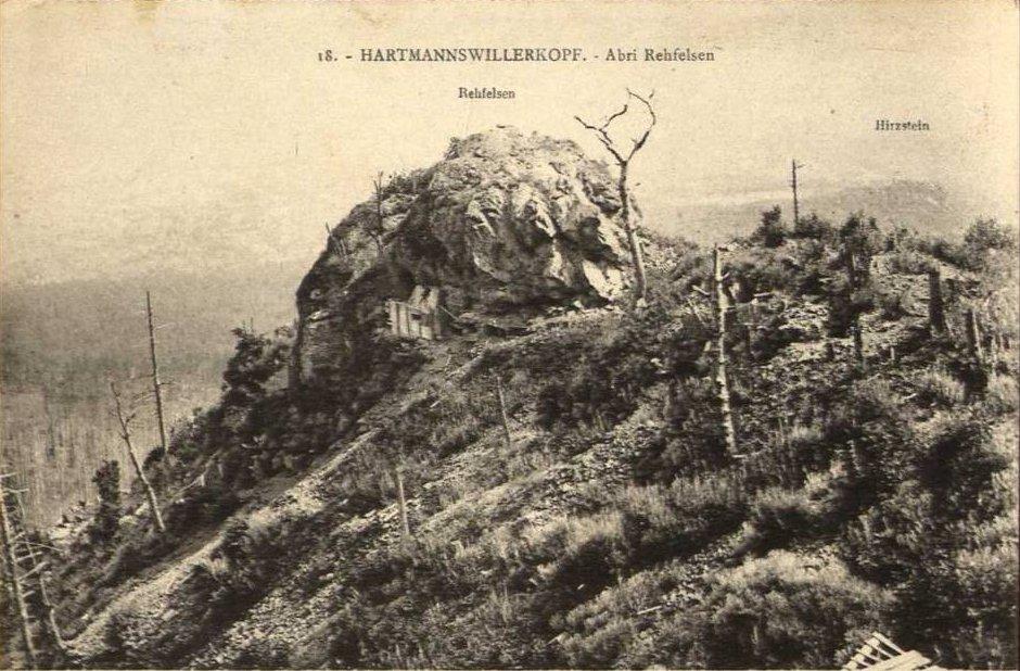 Rocher fortifié Unterrehfelsen vu depuis la Feste Bamberg