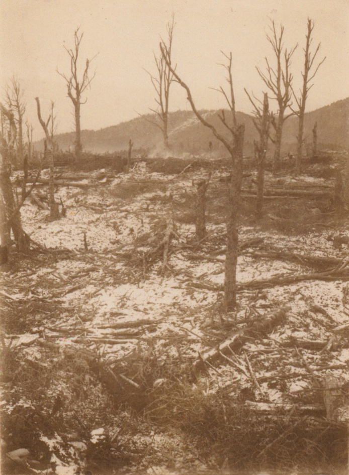 Vue de la crête du HWK 18-12-1915
