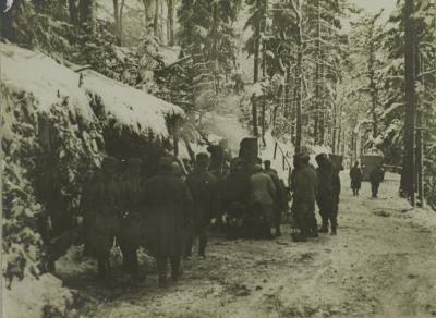 Camp turenne la soupe 07 mars 1916