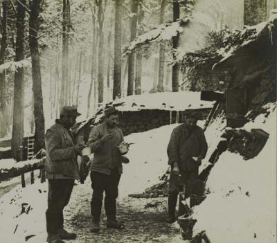 Camp turenne la soupe des alpins 03 mars 1916