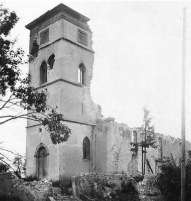 Eglise bombardee aspach le bas