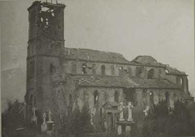 Eglise cimetiere 07 janvier 1919