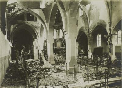 Eglise en ruines 02 mars 1917
