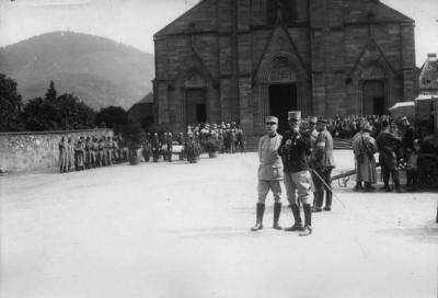 Enterrement d un officier 18 juin 1915