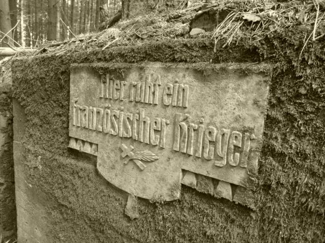 Franzosischer krieger plaque