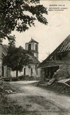 Goldbach eglise bombardee
