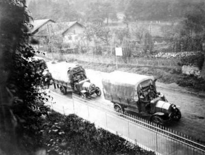 Hw 1915 convoi ravitaillament militaire