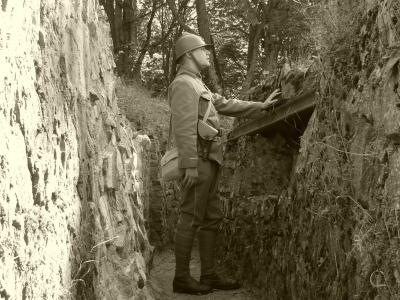 Observation dans la tranchée Sermet