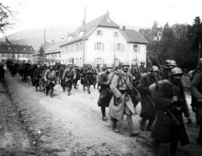 St amarin troupes en mouvement 1915